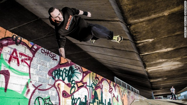 "All you need is a pair of trainers, so you don't need any expensive equipment to get into it,"" said <a href='http://parkourgenerations.com/about' target='_blank'>Parkour Generations</a> trainer, James Adams (pictured)."