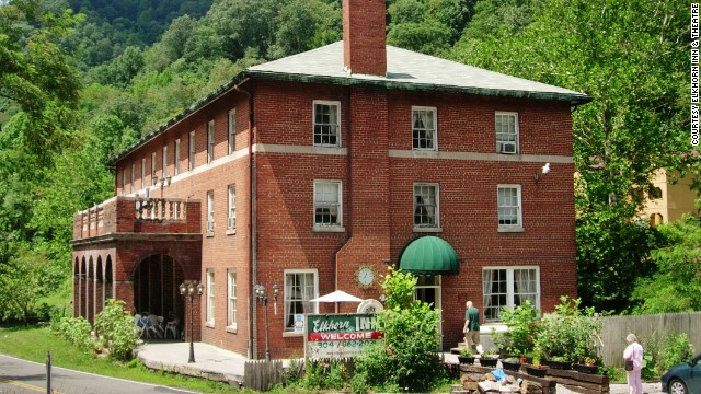 The Elkhorn Inn in Landgraff, West Virginia, is housed in a 1922 miner's clubhouse on the Coal Heritage Trail.