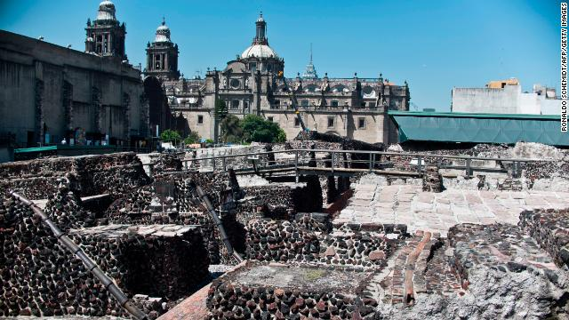 A drained lake bed and relics from an ancient civilization are part of the city's foundation. In the late 1970s, archaeologists unearthed ruins of the Templo Mayor, an Aztec temple that's now a popular tourist destination.
