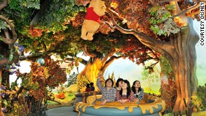 Calm and soothing wins the day at Pooh\'s Hunny Hunt.