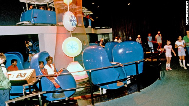 Though now retired, Disneyland's Adventure Thru Inner Space was the first ride to allow passengers to change the direction they faced as the ride progressed, using a system known as Omnimover.