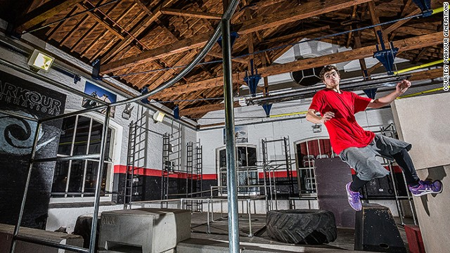 The group is behind <a href='http://parkourgenerations.com/' target='_blank'>The Chainstore London Parkour Academy</a>, the UK's first purpose-built parkour center (pictured).