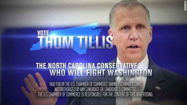 The Chamber of Commerce and American Crossroads have stepped in with ads to prop up U.S. Senate candidate Thom Tillis.
