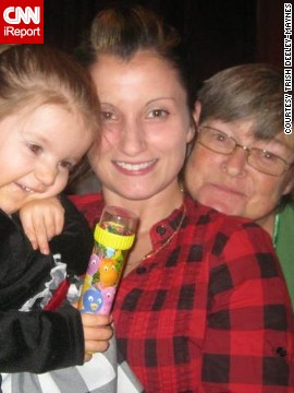 "<a href='http://ireport.cnn.com/docs/DOC-1118800'>Trish Deeley-Maynes</a>, middle, has referred to Trudy Sherwood as ""Momma"" for as long as she can remember. Sherwood, right, was the mother of Maynes' three half-sisters and always treated Maynes and her sister Jill as though they were her own daughters. Maynes' biological mother was largely absent, she says. Sherwood taught her to always look for the good in people. ""She never judged anyone. She was strong as heck, too."""