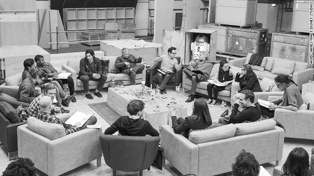 "The cast of ""Star Wars: Episode VII"" unites well-known ""Star Wars"" names with some up-and-coming actors. At least one cast member, Daisy Ridley, is so new she has just a few acting credits to her name. You can see her in the back right of this cast photo, wearing a necklace and talking to ""Star Wars"" veteran Carrie Fisher. Here's who she'll star with:"