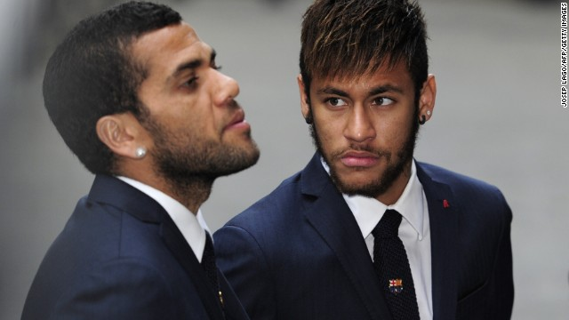 Alves' Barcelona teammate Neymar started a social network campaign in support of his compatriot, which has been backed by a number of high-profile footballers.