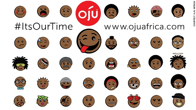 "The first ever Afro emoticons have recently been launched by a Mauritius-based app company. Called ""Oju,"" which translates to ""faces"" in the Nigerian Yoruba language, the icons are meant to tackle a lack of racial diversity in mobile characters."