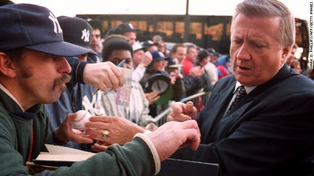The late New York Yankees owner George Steinbrenner was suspended from baseball for making illegal campaign contributions to Richard Nixon in 1974. He was banned for life in 1990 after paying a gambler $40,000 to get damaging information about a player, <a href='http://www.cnn.com/2010/US/07/13/steinbrenner.obit/' target='_blank'>but Major League Baseball reinstated him three years later</a>.