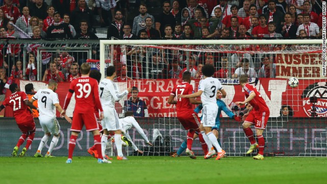 Ramos claimed his second soon after, finding space inside the Bayern penalty area to plant his header firmly past Manuel Neuer from close range.
