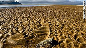 Raudasandur beach stretches for 10 kilometers.