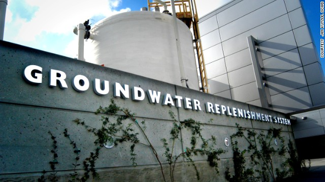 California's Orange County Water District (OCWD), has a plant that recycles used water and returns it to the drinking supply. <!-- --> </br>It is expanding production to 100 million gallons per day, enough for 850,000 people.