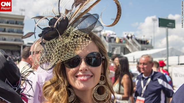 """""""This reminded me of a hat you might see at a royal wedding or a polo match or, of course, at the Kentucky Derby."""""""