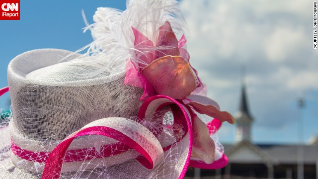 """""""Out of all the hat photos I have taken, this is my favorite,"""" photographer <a href='http://ireport.cnn.com/people/JohnMcGraw'>John McGraw</a> said. The 2014 Kentucky Derby will mark his 20th year in attendance. You can bet McGraw will be hat-tipping the boldest hat aficionados by taking their photos."""