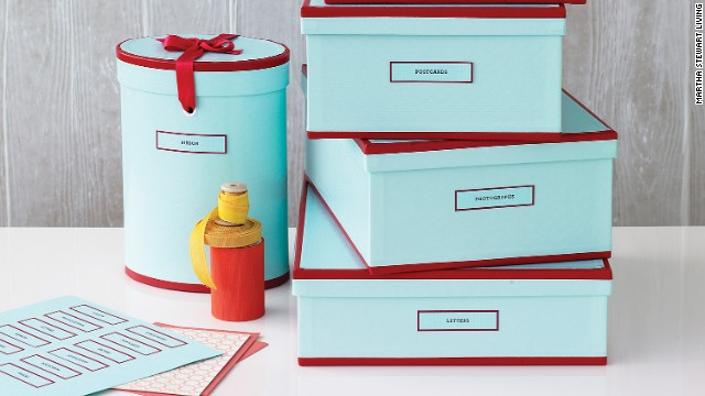 Setting physical parameters on keepsakes, like one box per year of your child's life, can keep clutter under control.