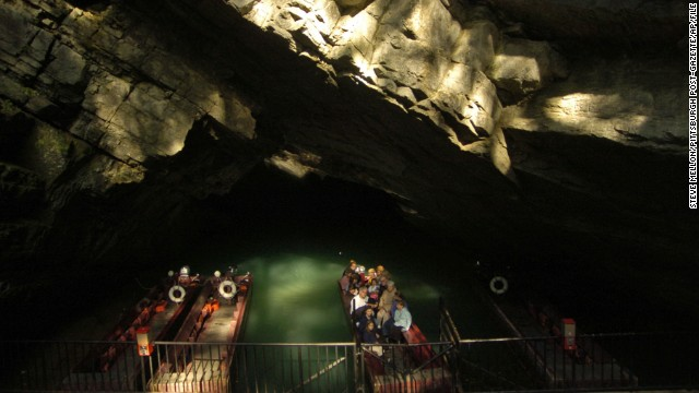 For explorers who don't want to hike, consider Penn's Cave in Centre Hall, Pennsylvania, where boats carry tourists on an underground stream.