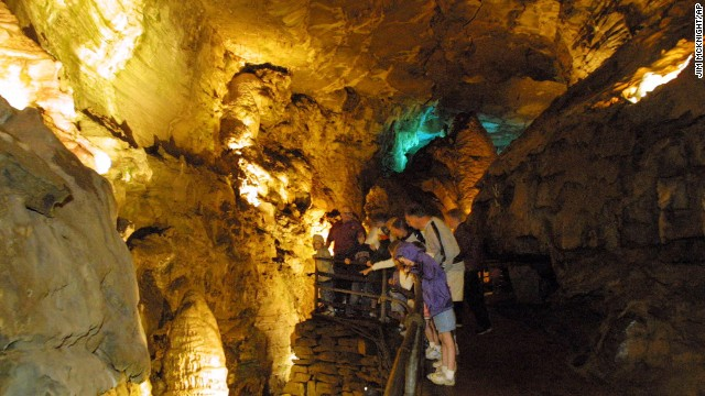 It might get hot above ground in upstate New York during the summer, but Howe Caverns at Howes Caves will be noticeably cooler underground.
