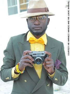 The Namibian blogger sources his clothes from open markets.
