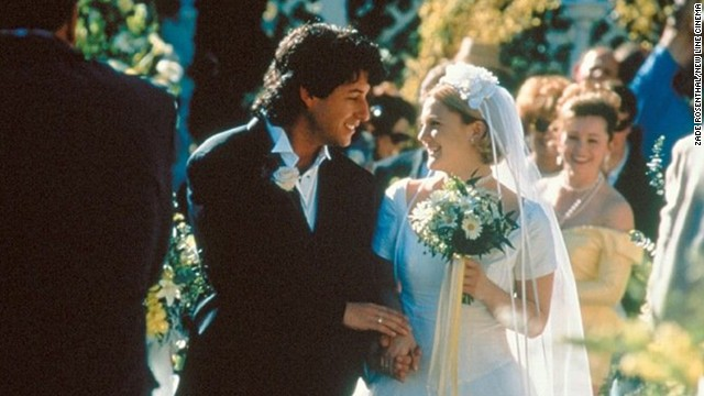 """The Wedding Singer"": When's a horrible time to meet your soul mate? When you're about to get married to someone else. In this 1998 comedy, Adam Sandler plays a wedding singer with a star-crossed crush on a bride-to-be (Drew Barrymore)."