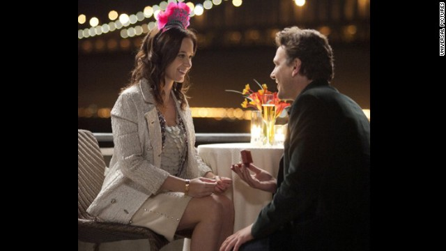 """The Five-Year Engagement"": Both bride (Emily Blunt) and groom (Jason Segel) are potential no-shows at the altar over the course of a long engagement and behave pretty awfully along the way in this 2012 comedy."