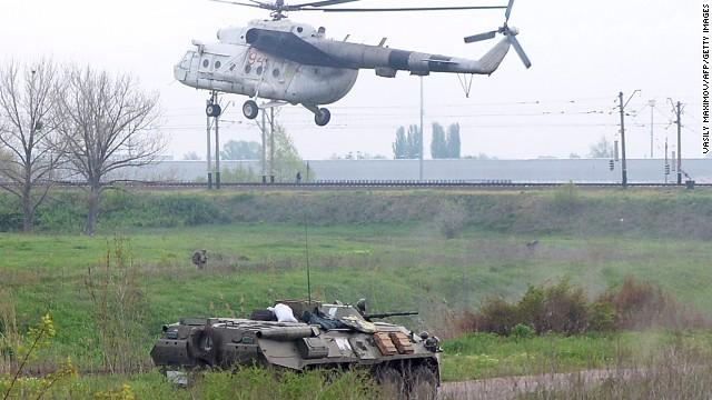 Separatistas prorrusos derriban dos helicópteros del Ejército de Ucrania