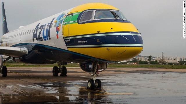 The Azul Brazilian airline unveiled an aircraft which bears the iconic color scheme of Senna's racing helmet on its nose.