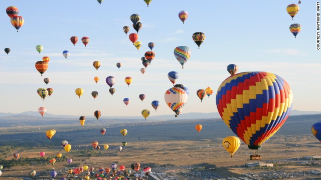 Enjoy the colorful display of more than 500 colorful balloons taking flight just north of Albuquerque, New Mexico.