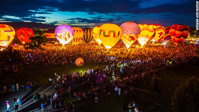 Enjoy the Colorado Balloon Classic, held each Labor Day Weekend since 1977, and watch hundreds of jewel-toned balloons mass-launch in front of the 14,115-foot Pikes Peak.