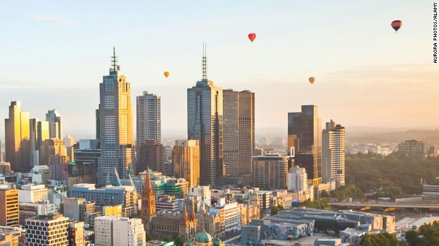 In a hot air balloon ride over Melbourne, take in views of Australia's second largest city and its notable landmarks like Melbourne Park and Rod Laver Arena, site of the Australian Open
