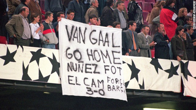 Van Gaal proved to be a divisive figure during his time at Barcelona and lasted less than a year in the job in his second spell in charge in 2002, with a string of bad results proving to be his downfall.