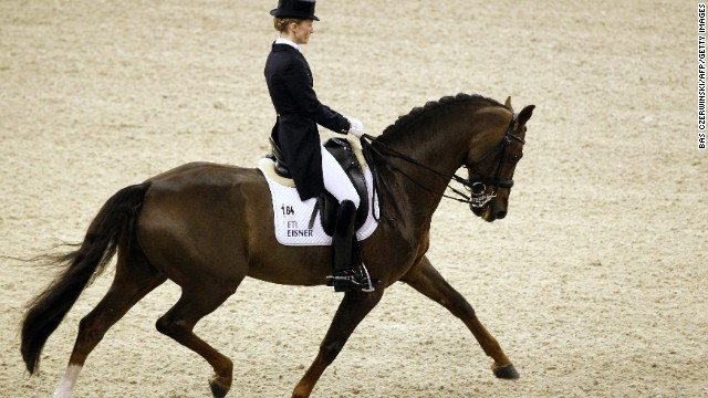 DRESSAGE: A discipline where horse and rider perform at a walk, trot and canter delivering a routine from memory, it is considered the highest expression of horse training. It is also the only time in the world you will see a horse dancing to classical music. Not to be missed.