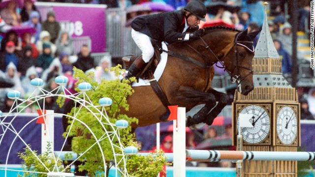 SHOW JUMPING: Probably the best known of all the disciplines, show jumping involves horses and their riders having to jump over a number of obstacles varying in difficulty, with penalties incurred for each one knocked down. Fences are often flanked by eye-catching decorations -- as seen here at the London 2012 Olympics.