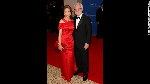 Diane Lane and Wolf Blitzer