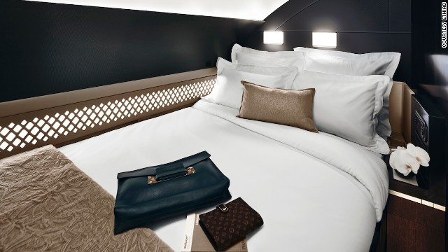 The Residence was designed for long-haul flights. Once reserved for private jets, the VIP suite has its own double bed, lounge and shower.