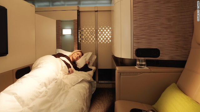 Etihad's redesigned A380s also feature First Apartments, private suites with reclining lounge seats, full-length bed, minibar, personal vanity unit and wardrobe.