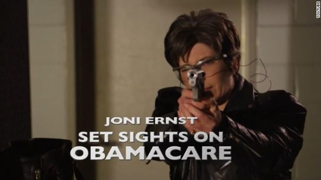 GOP Senate candidate fires off rounds in new ad