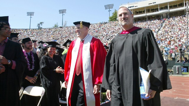 "<a href='http://news.stanford.edu/news/2005/june15/jobs-061505.html' target='_blank'>Steve Jobs</a> dropped out of Reed College after a few months but audited some creative classes, like calligraphy. At Stanford University's commencement ceremony on June 12, 2005, he told the audience, ""Your time is limited, so don't waste it living someone else's life. Don't be trapped by dogma, which is living with the results of other people's thinking. Don't let the noise of others' opinions drown out your own inner voice. And most important, have the courage to follow your heart and intuition."""