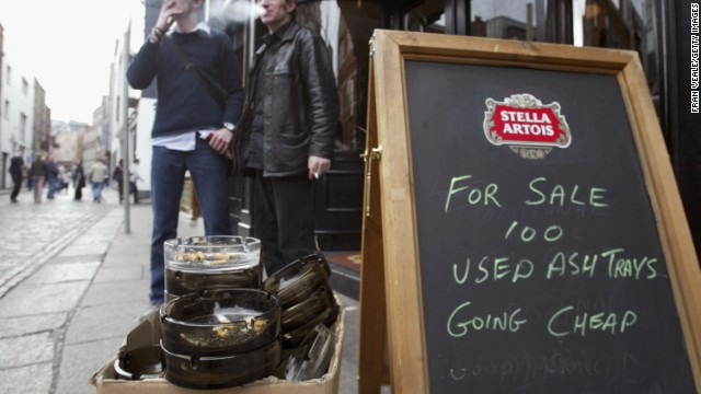 Ireland was the first country in the world to outlaw smoking in closed public spaces in 2004.