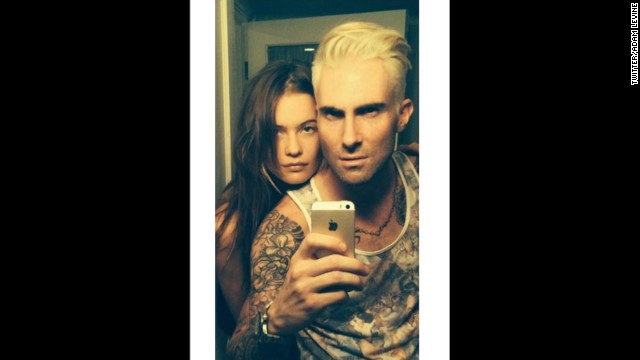 Adam Levine goes platinum