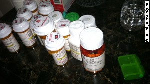 Lauren is taking at least nine medications on a regular basis to treat the symptoms of lupus.