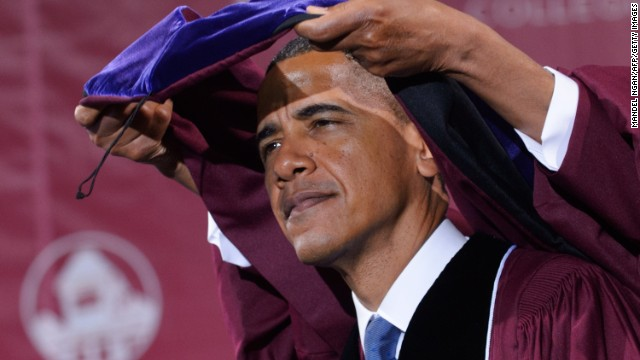 "President Barack Obama, who majored in political science, received an honorary degree at Morehouse College on May 19, 2013, in Atlanta, Georgia. In his commencement speech, <a href='http://blogs.wsj.com/washwire/2013/05/20/transcript-obamas-commencement-speech-at-morehouse-college/' target='_blank'>Obama told the graduating class</a>, ""Just as Morehouse has taught you to expect more of yourselves, inspire those who look up to you to expect more of themselves."""