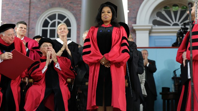 "Oprah Winfrey, who majored in speech and theater, delivered the commencement address at Harvard University on May 30, 2013. ""The key to life is to develop an internal moral, emotional GPS that can tell you which way to go,"" she <a href='http://news.harvard.edu/gazette/story/2013/05/winfreys-commencement-address/' target='_blank'>said</a>."