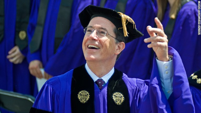 "Stephen Colbert, who studied philosophy and theater as an undergraduate, gave the commencement speech at Northwestern University on June 17, 2011. <a href='http://www.northwestern.edu/newscenter/stories/2011/06/colbert-speech-text.html' target='_blank'>He said</a> of his major, ""I not only loved studying theater, I loved being a theater major. It gave me an excuse to brood, to grow a beard, to wear black 'at' people. I didn't just want to play Hamlet, I wanted to be Hamlet."""