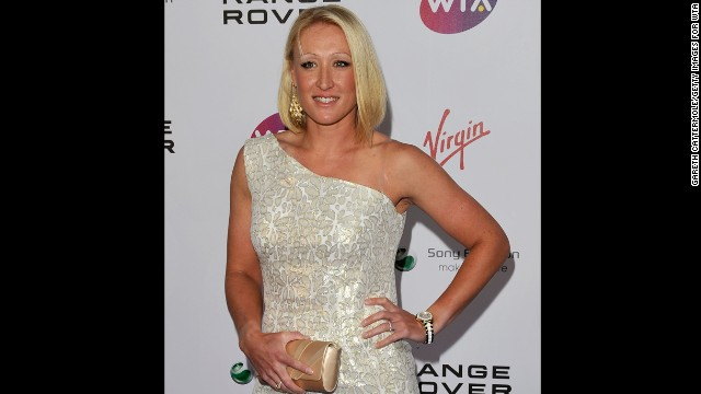 Baltacha arrives at the WTA Tour Pre-Wimbledon Party in London in June 2011.