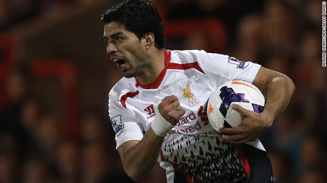 Suarez endured a disappointing night but looked to have wrapped up victory on 55 minutes by firing Liverpool into a three-goal lead.