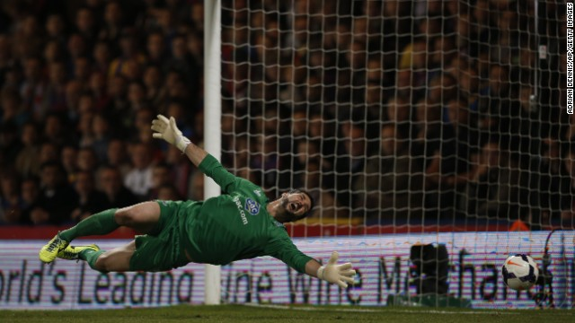 Julian Speroni was beaten for the second time when Daniel Sturridge's deflected effort made it 2-0 to Liverpool after the break.