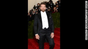 Bradley Cooper attends Monday\'s Met Gala in New York.
