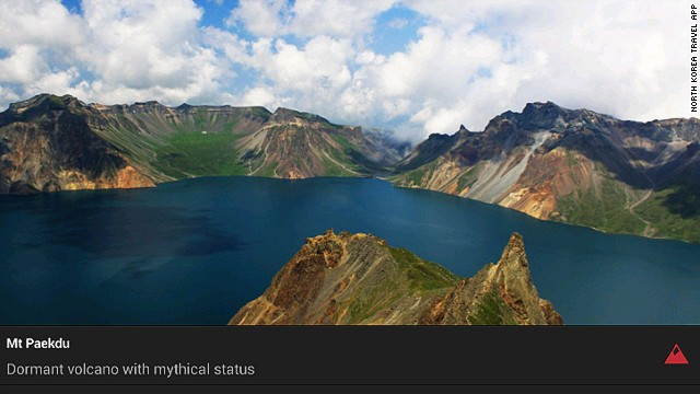 The North Korea Travel App covers more than 350 points of interest, including natural wonders like Mount Paekdu.