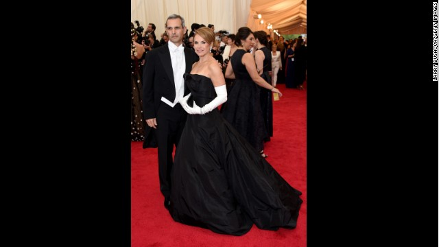 John Molner and Katie Couric at the Met Ball in 2014.