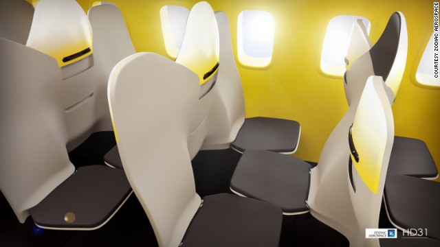 Zodiac Aerospace has been experimenting with a concept that would feature two forward-facing seats sandwiching a single backward-facing seat.