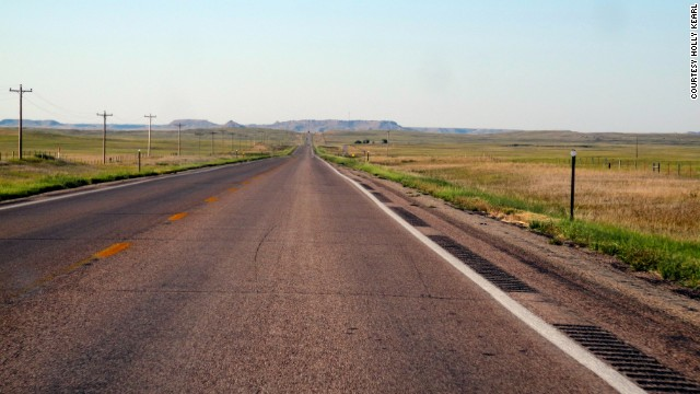 In 2012, Kearl drove across North Dakota to South Dakota.